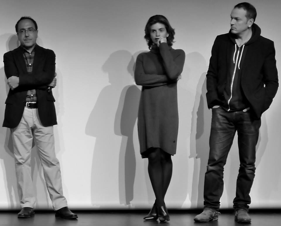 Abbas Fahdel, Anne-Nivat et Jean-Stéphane Bron lors de la présentation de Homeland  Irak année zéro