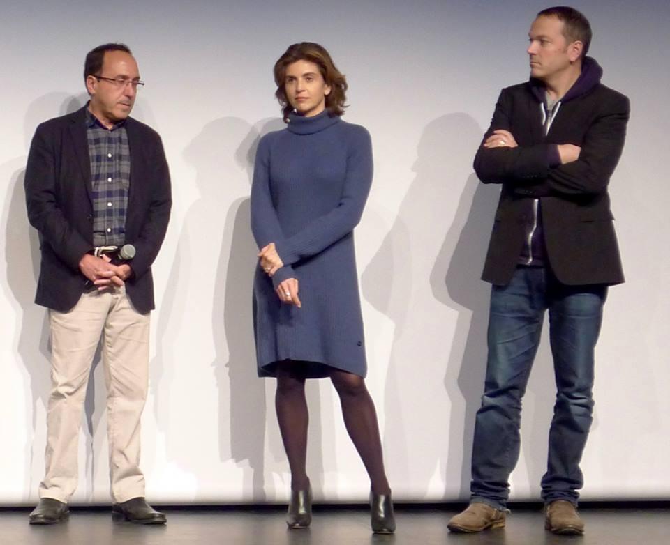 Abbas Fahdel, Anne-Nivat et Jean-Stéphane Bron lors de la présentation de Homeland, Irak année zéro