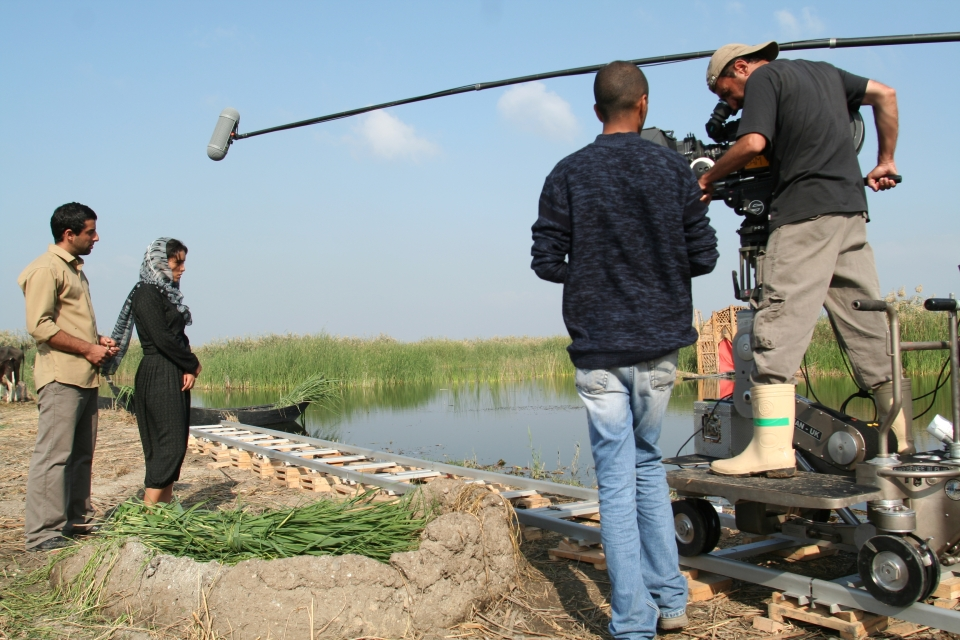 Abbas Fahdel on the set of Dawn of the Word